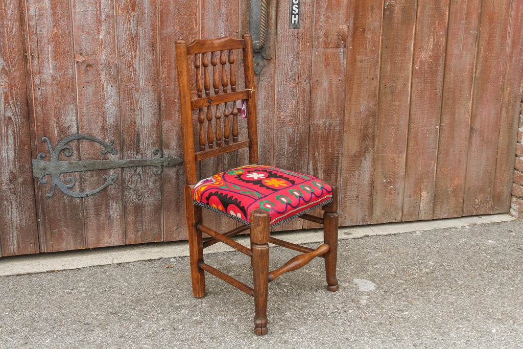 19th Century English Spindleback Suzani Chair