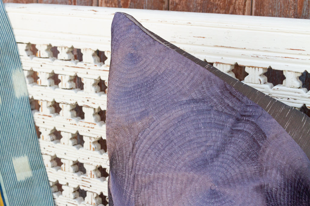 Gray Chakra Large Silk Pillow