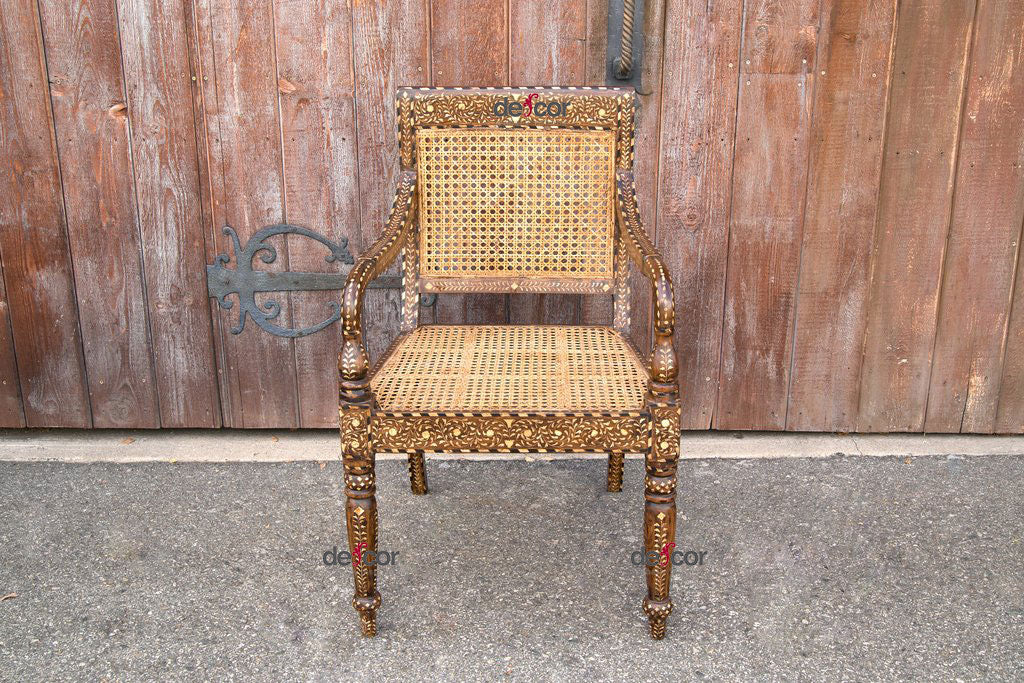 Anglo Indian Bone Inlay Arm Chair