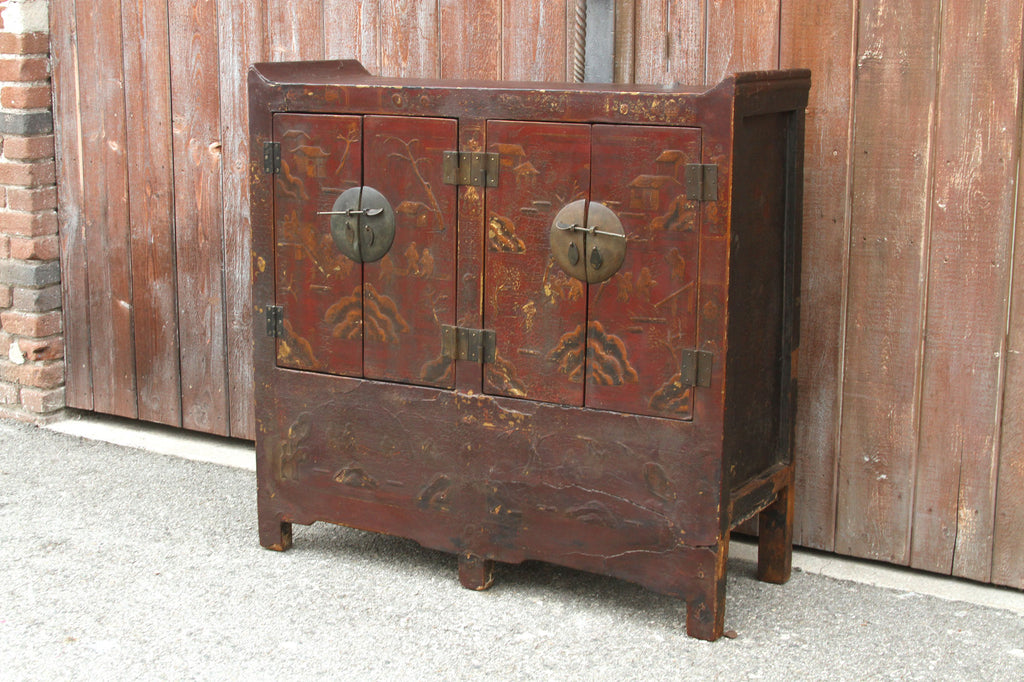 Antique Chinosierie Buffet Cabinet