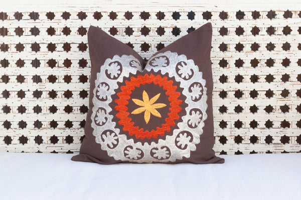 Mandala Canvas Suzani Pillow