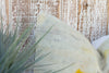 Royal Blue Crewel Embroidered Pillow