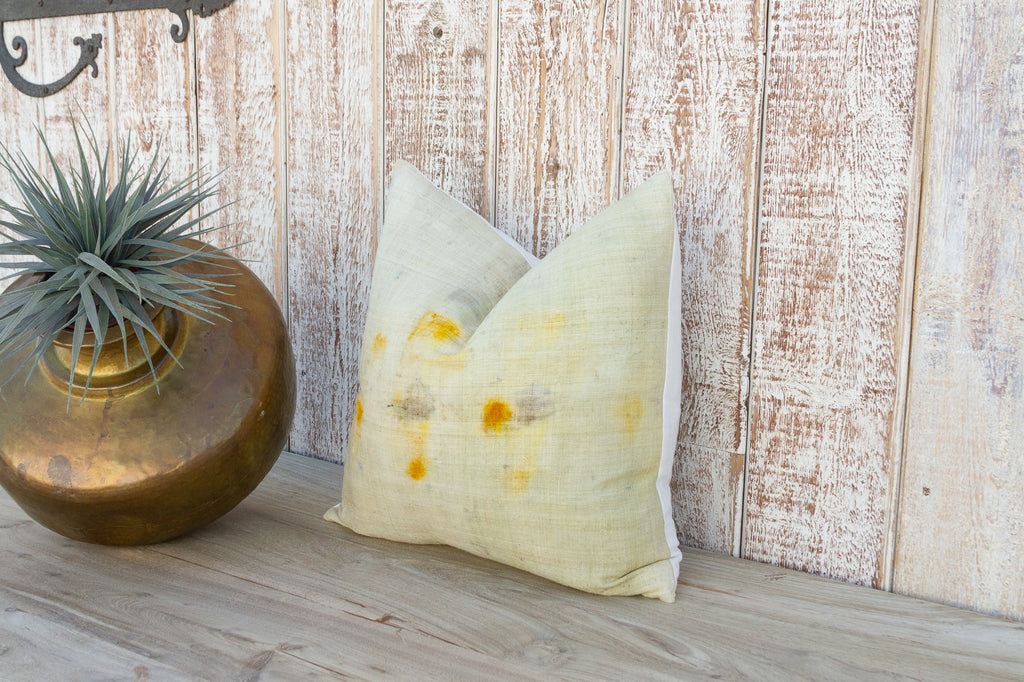 Lime Green Kashmiri Native Pillow
