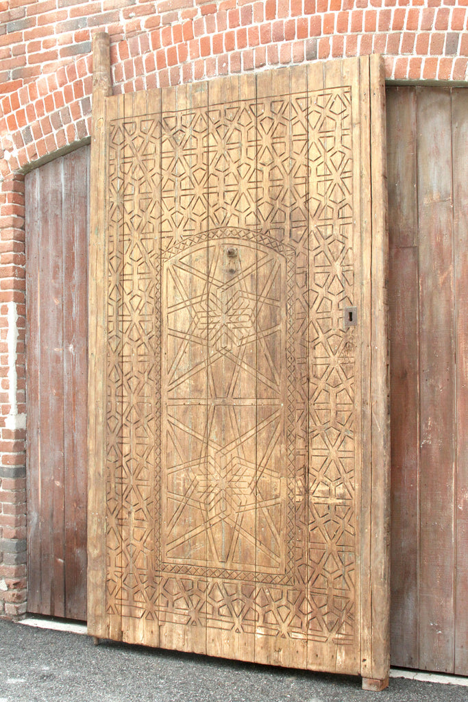 Early 19th Century Moroccan Carved Door