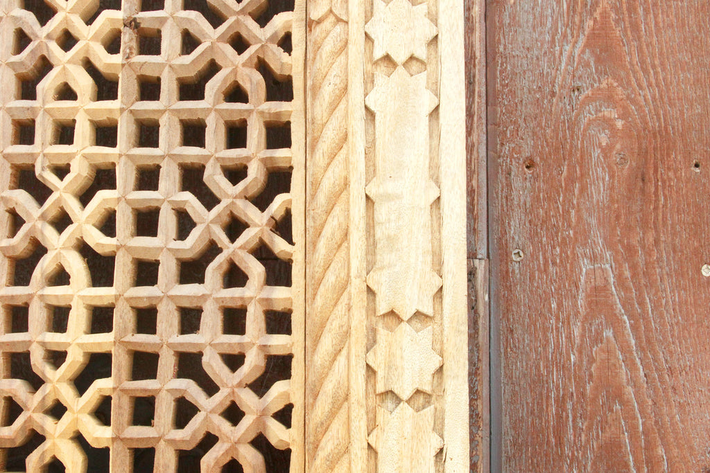 Mihrab reclaimed teak carved panel