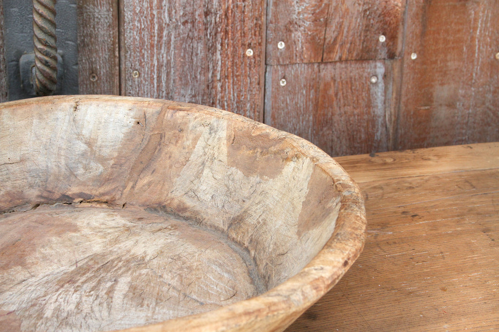 Hand Carved Primitive Dough Bowl