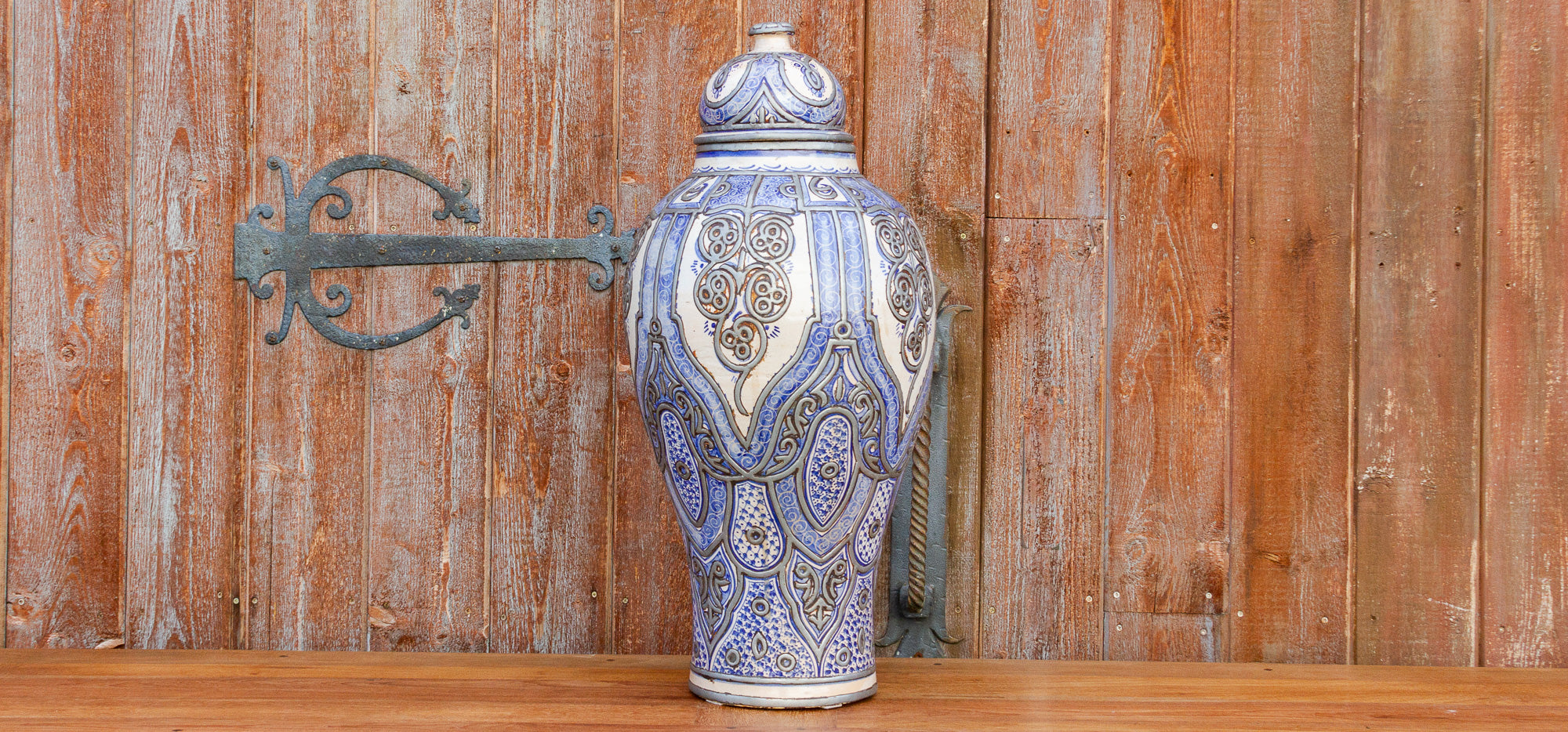 Zohra Moroccan Jar With Lid