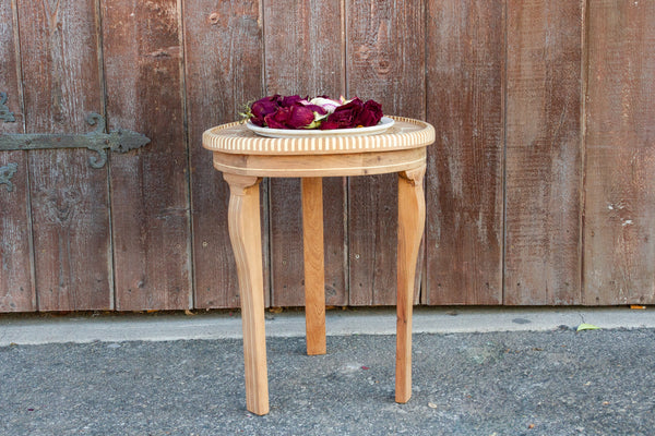 Arabesque Syrian Marquetry Side Table