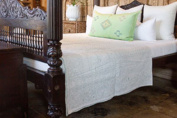Blanca Filanan Embroidered Bed Cover