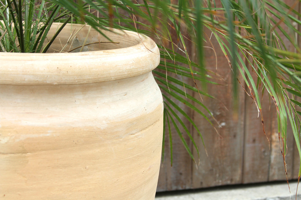 Half Barrel Egyptian Red Clay Pot