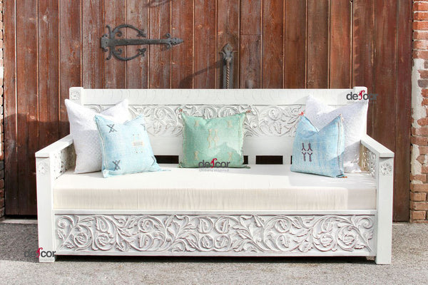 Blanca Floral Carved Daybed