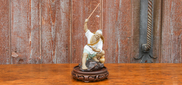 Vintage Asian Fisherman Figurine