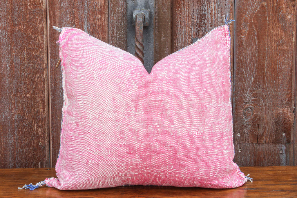 Layla Moroccan Silk Rug Pillow