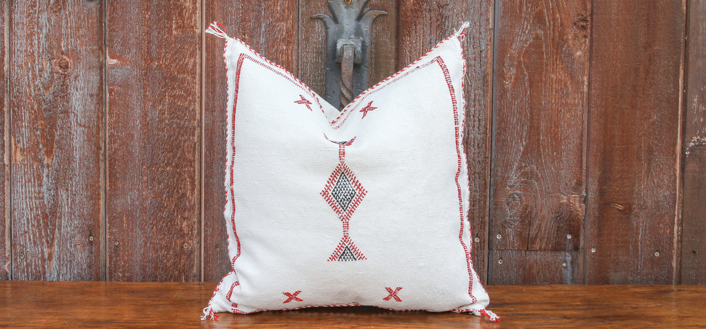 Samira Moroccan Silk Rug Pillow