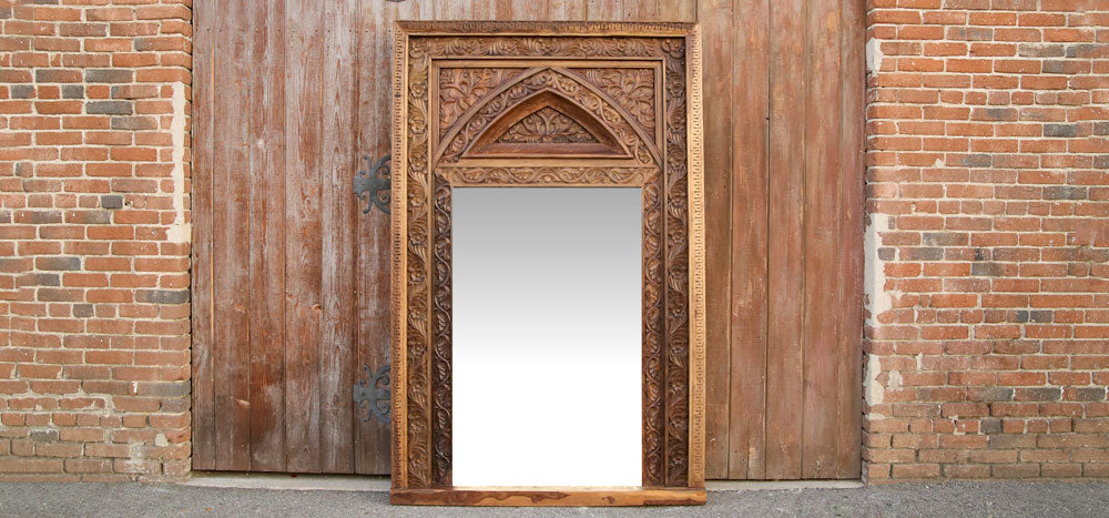 Architectural Arched Floor Mirror