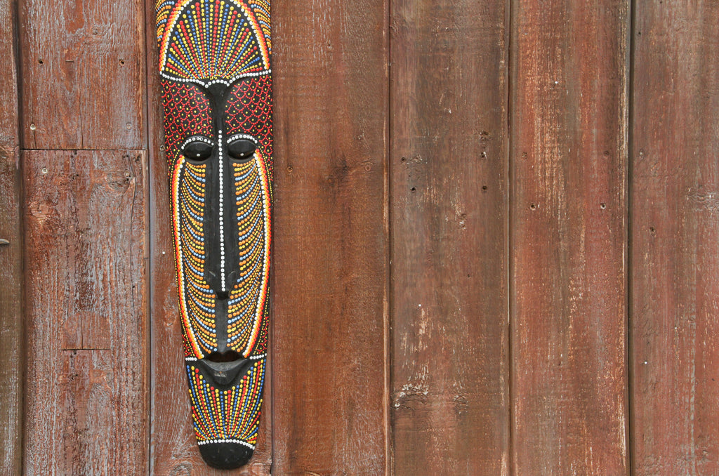 Tribal Hand Painted Australian Mask