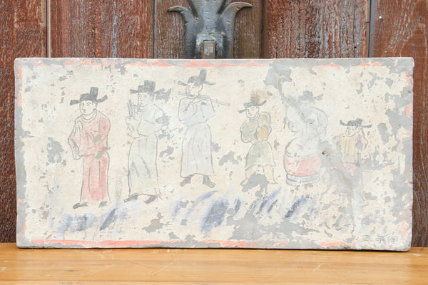 Hand-painted Liao Dynasty Style Musicians Mural Tile