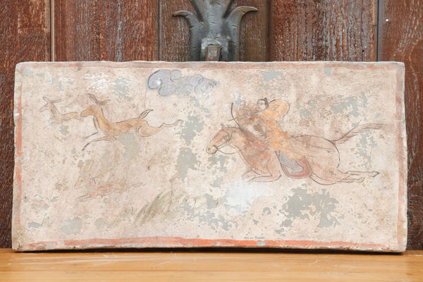 Hand-painted Hunting Scene Liao Dynasty Style Mural Tile