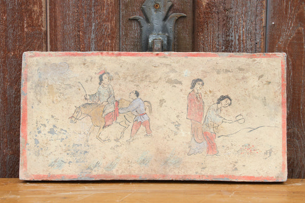 Delightful Hand-painted Liao Dynasty Style Mural Tile