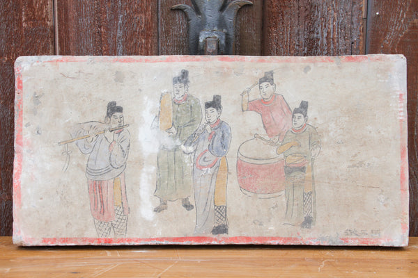 Hand-painted Musicians Liao Dynasty Style Mural Tile