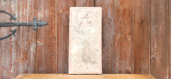 Stunning Hand-painted Liao Dynasty Style Mural Tile