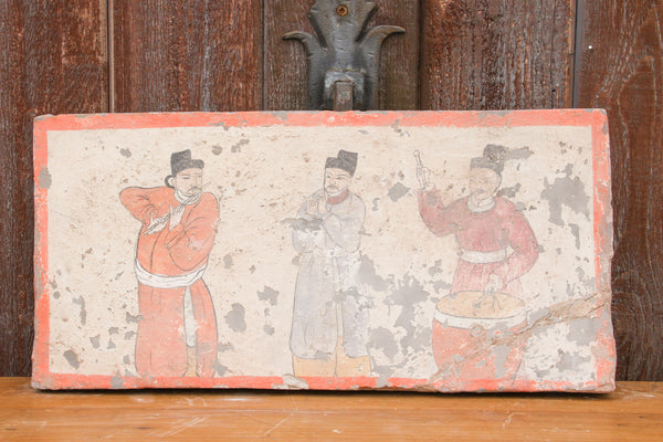 Mongolian Musicians Liao Dynasty Style Mural Tile
