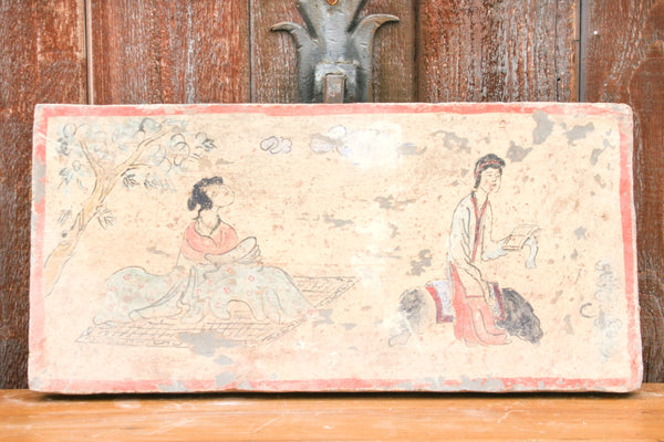 Sernene Hand Painted Liao Dynasty Style Mural Tile