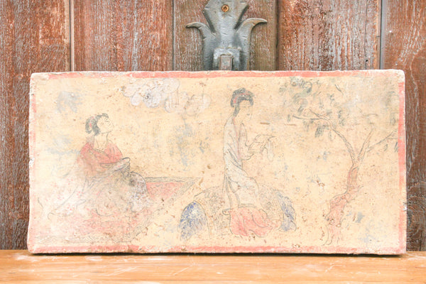 Peaceful Hand Painted Liao Dynasty Style Mural Tile
