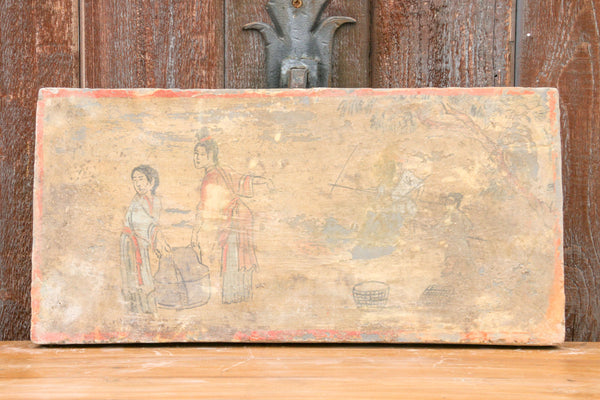 Impressive Hand Painted Liao Dynasty Style Mural Tile