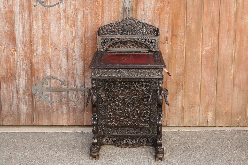 Rare 19th Century Carved Davenport Desk
