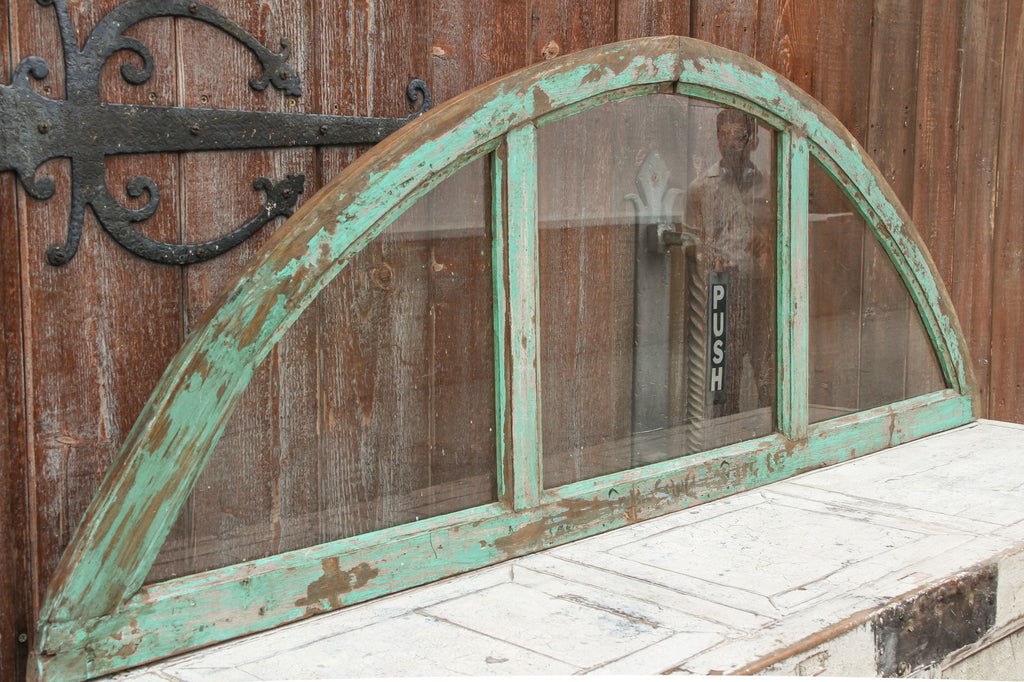 Antique arched window