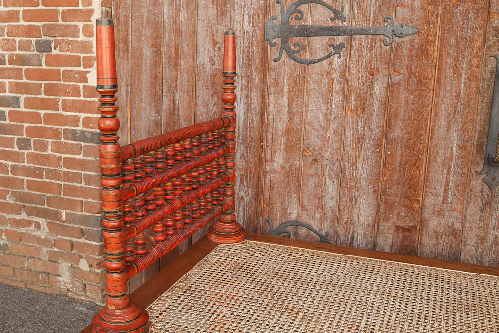 19th Century Painted Indian Daybed