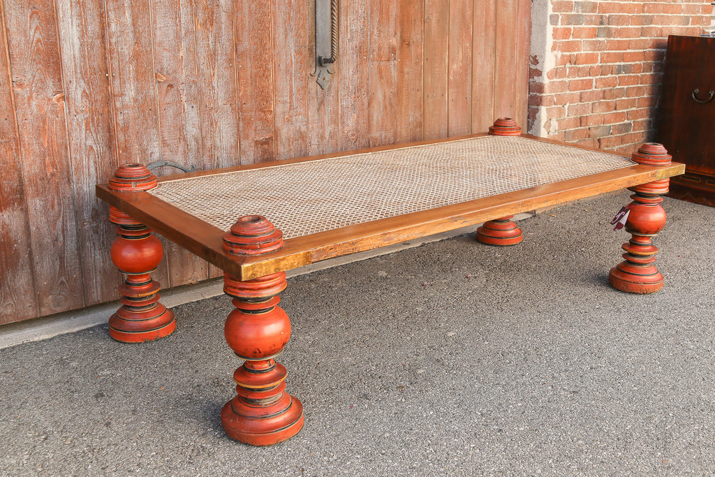 Anglo-Indian Baluster Carved Leg Table