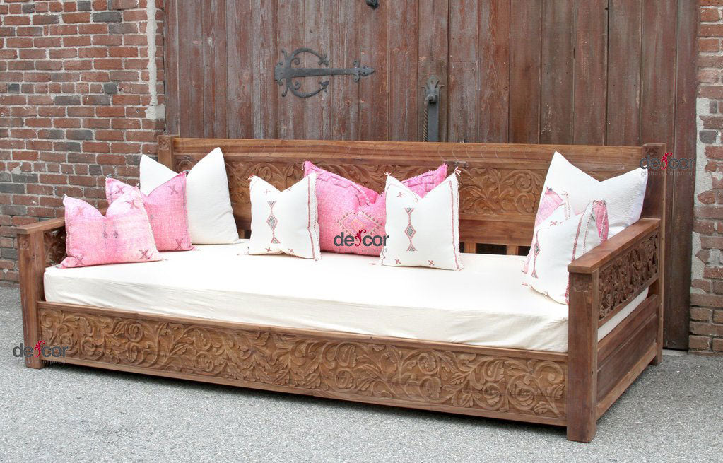Natural Grand Jodhpur Floral Daybed