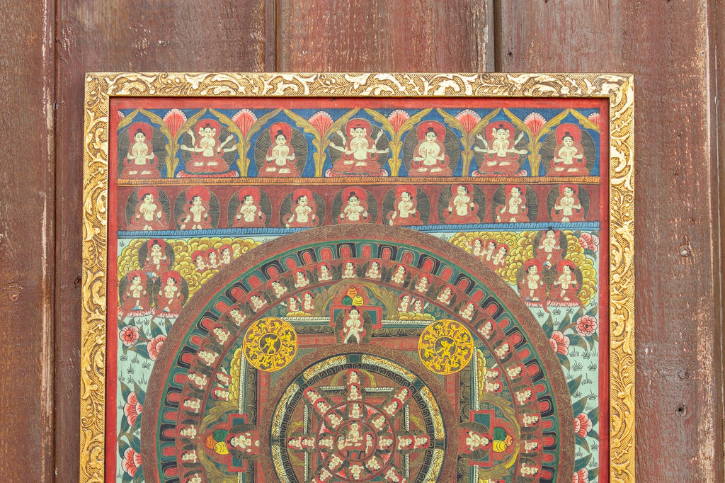 Lovely Vintage Gilded Thangka (Trade)