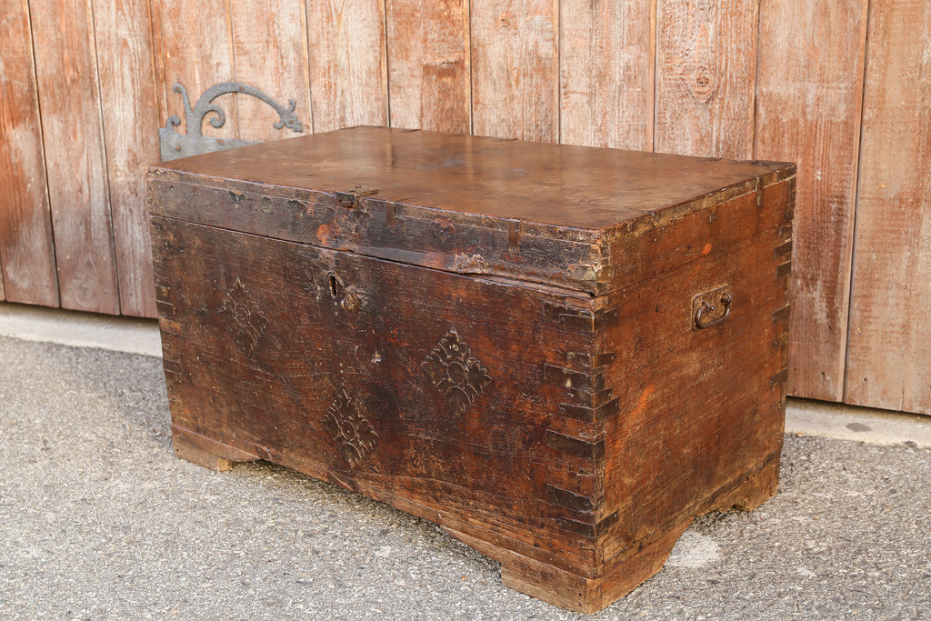 19th Century Campaign Dowry Trunk