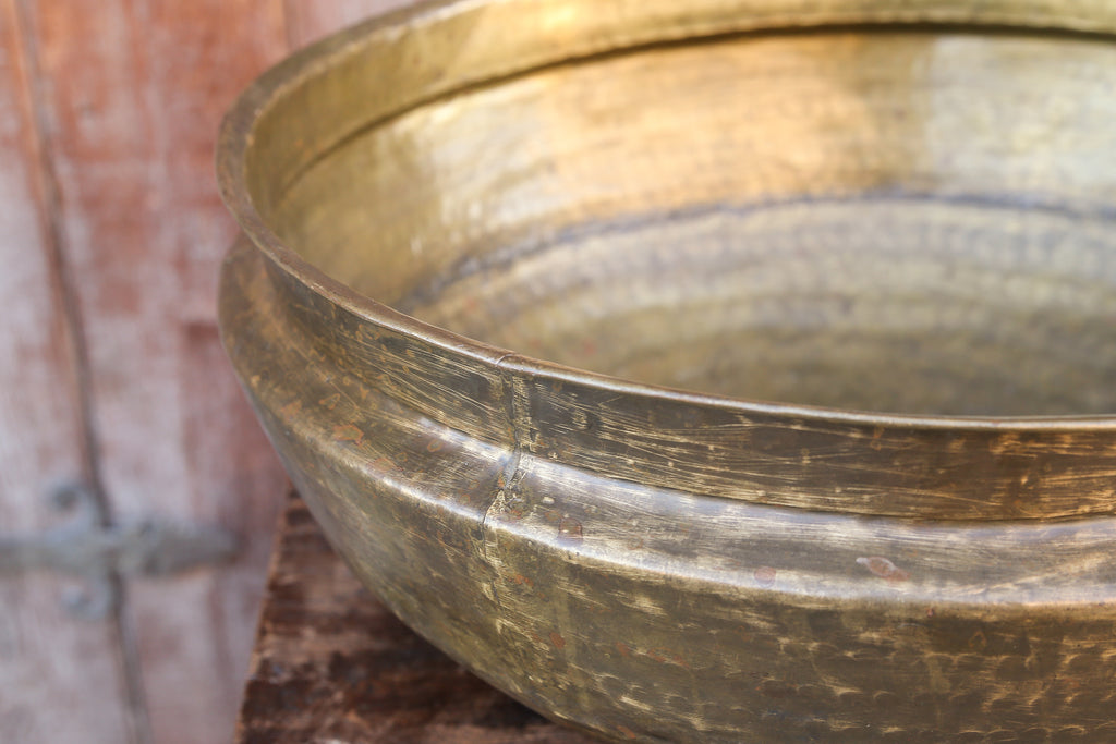 Ceremonial antique brass pot