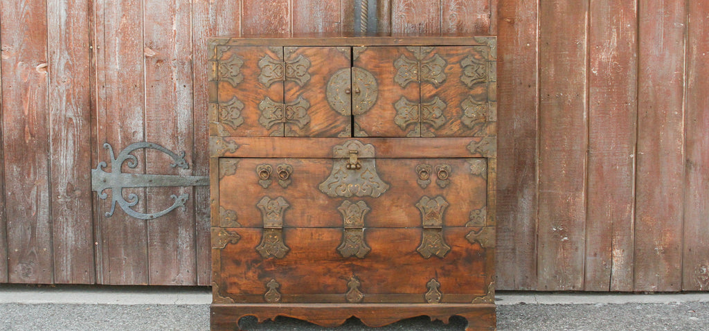 Brass Fitted Korean Wedding Chest