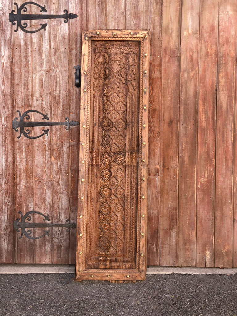 Antique Indian Carved Door Panel