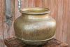 Ringed Rotund Brass Planter