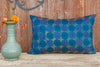 Blue Chakra Kantha Silk Pillow (Trade)
