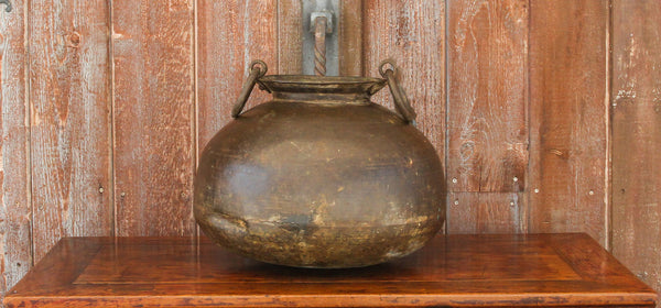 19th Century Solid Brass Water Pot