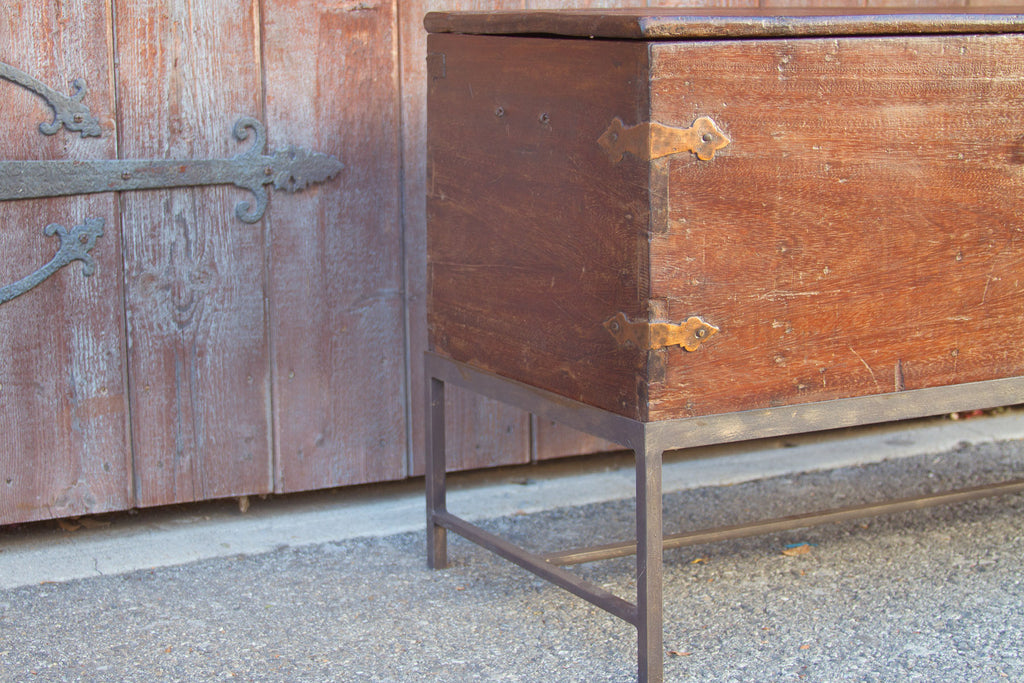 British Colonial Campaign Trunk on Stand