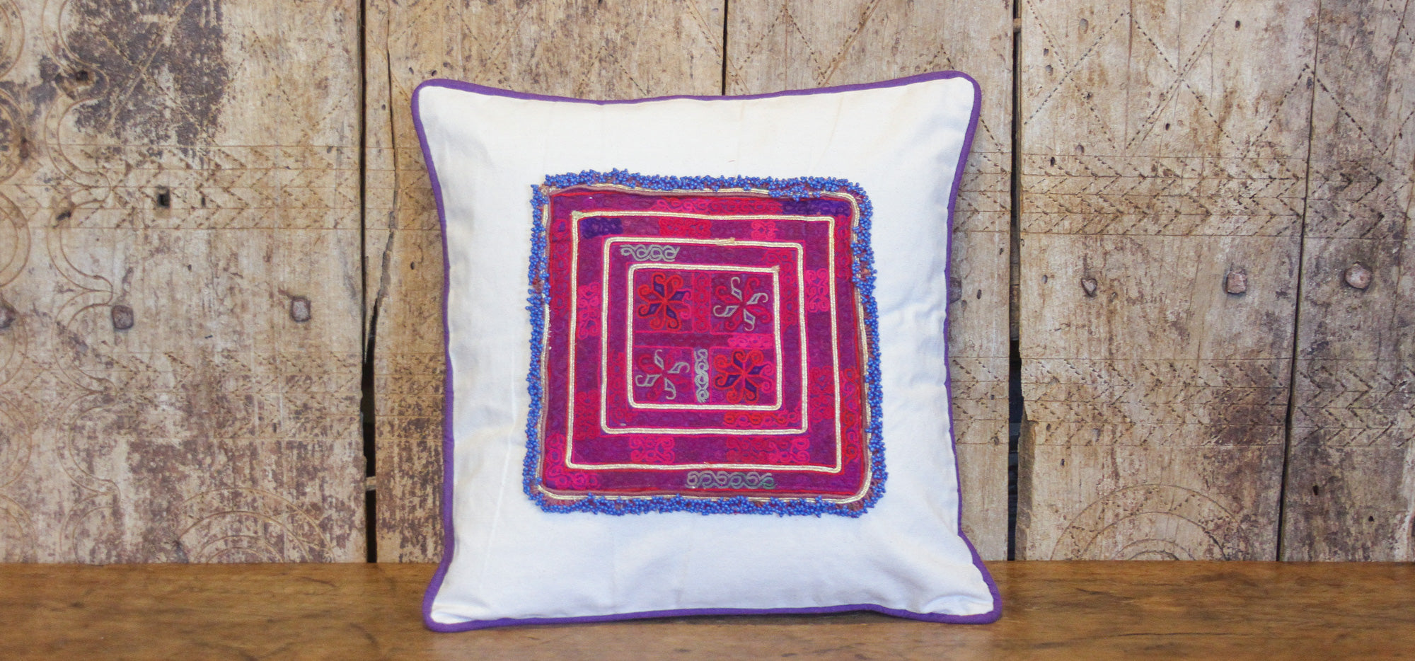 Gulabi Chakla Pillow