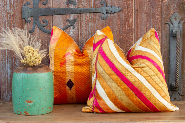 Ishaan Phulkari Square Pillow