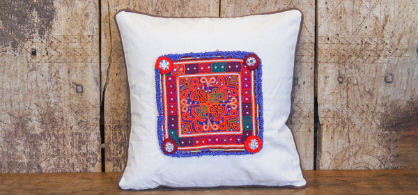 Colorful Chakla Pillow