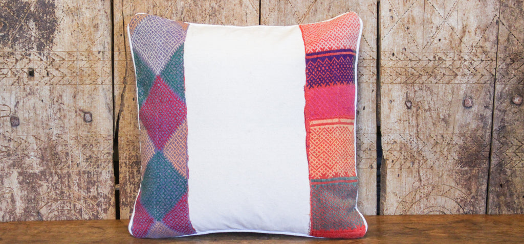 Earthtone Tribal Lace Pillow