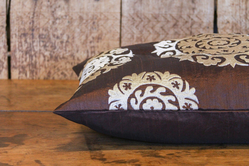 Rich Brown Silk Suzani