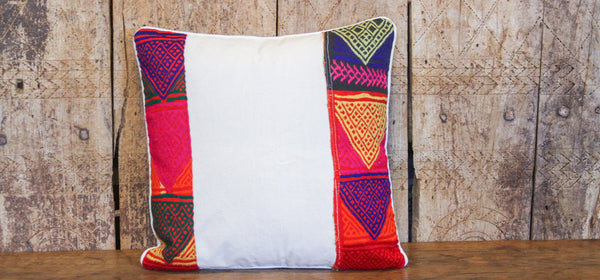 Boho Tribal Lace Pillow