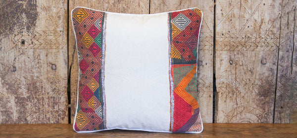 Festive Tribal Lace Pillow